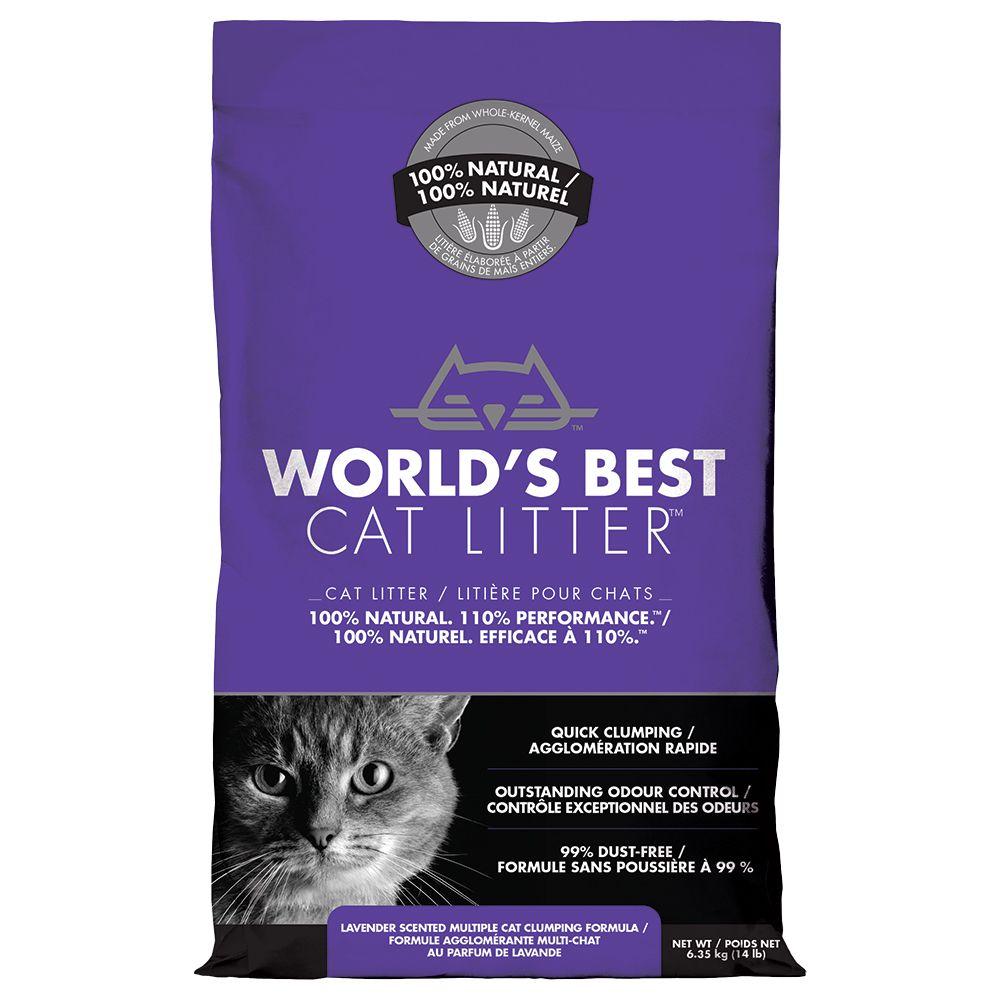 World's Best Cat Litter Lavender Scented Multiple Cat Clumping Formula, 28-lb bag