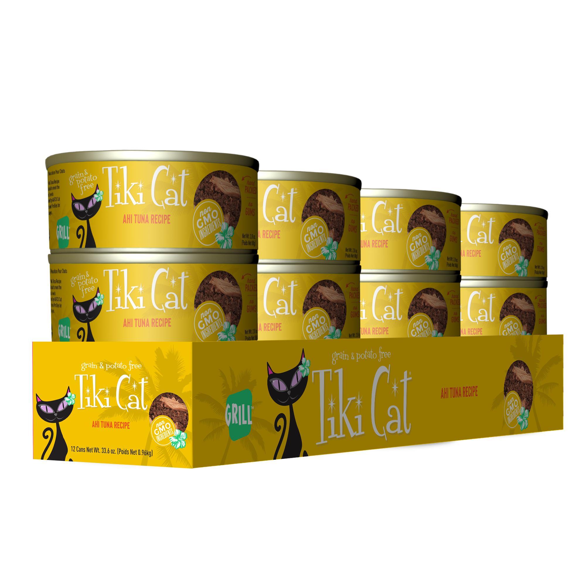 Tiki Cat Grill Hawaiian Ahi Tuna Canned Cat Food, 2.8-oz, case of 12