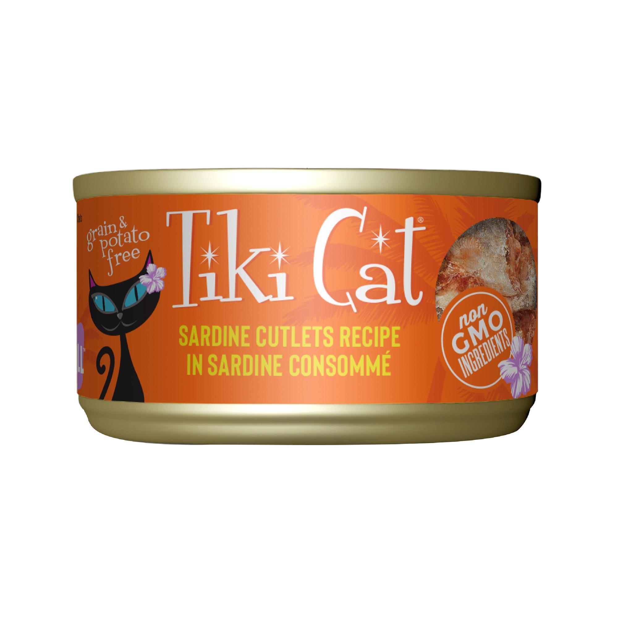 Tiki Cat Grill Sardine Cutlets Recipe in Sardine Consomme, 2.8-oz