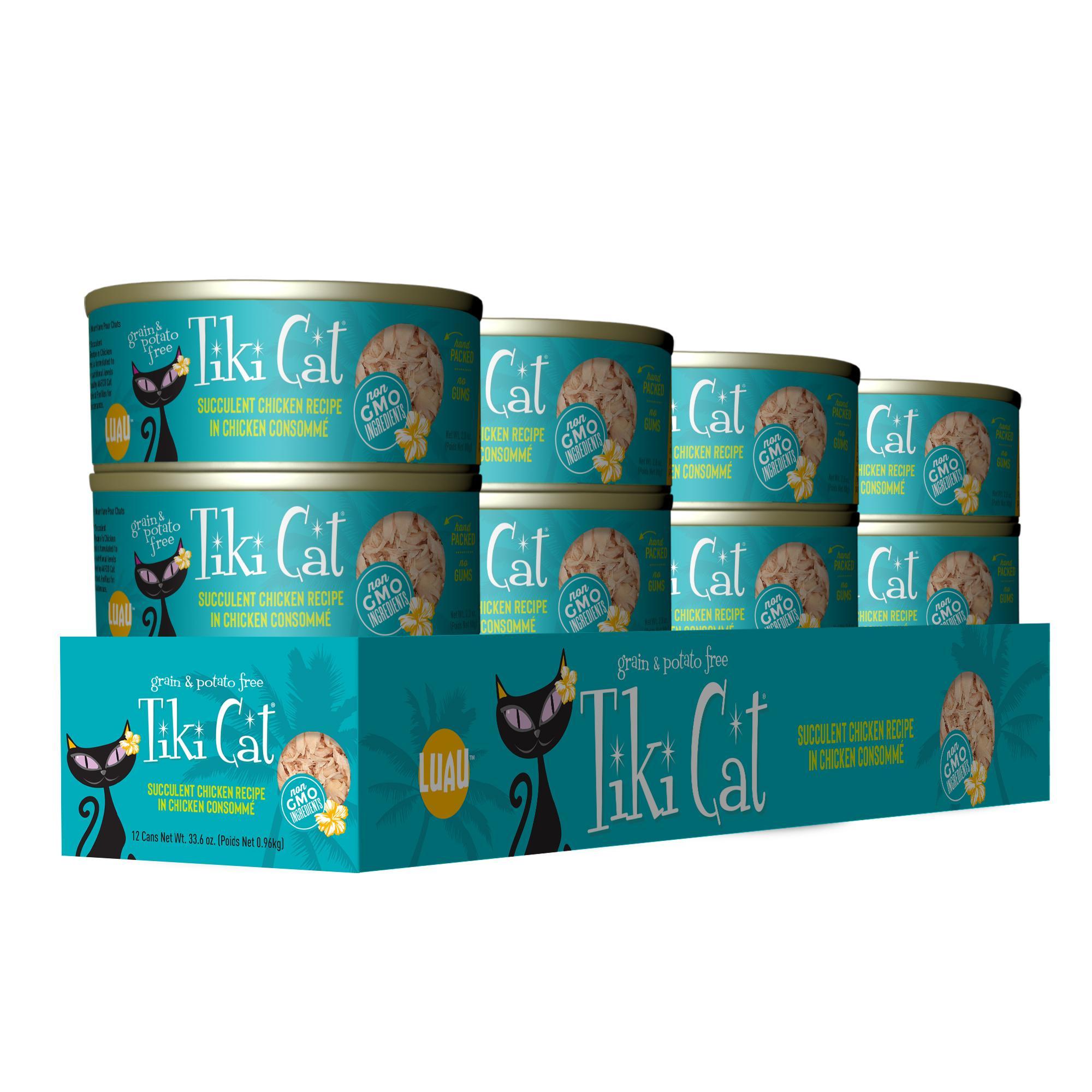 Tiki Cat Luau Succulent Chicken Recipe in Consomme, 2.8-oz, case of 12