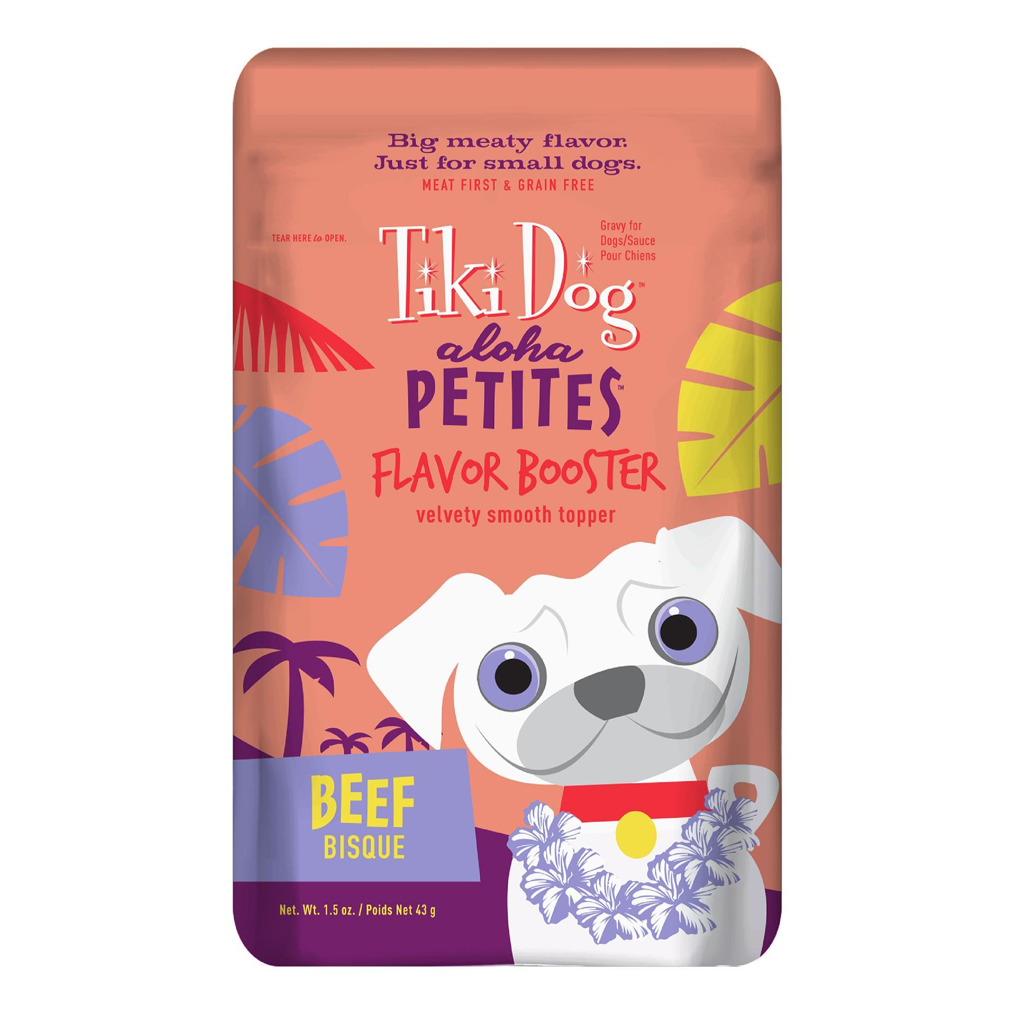 Tiki Dog Aloha Petites Flavor Booster Beef Bisque Dog Treat, 1.5-oz pouch