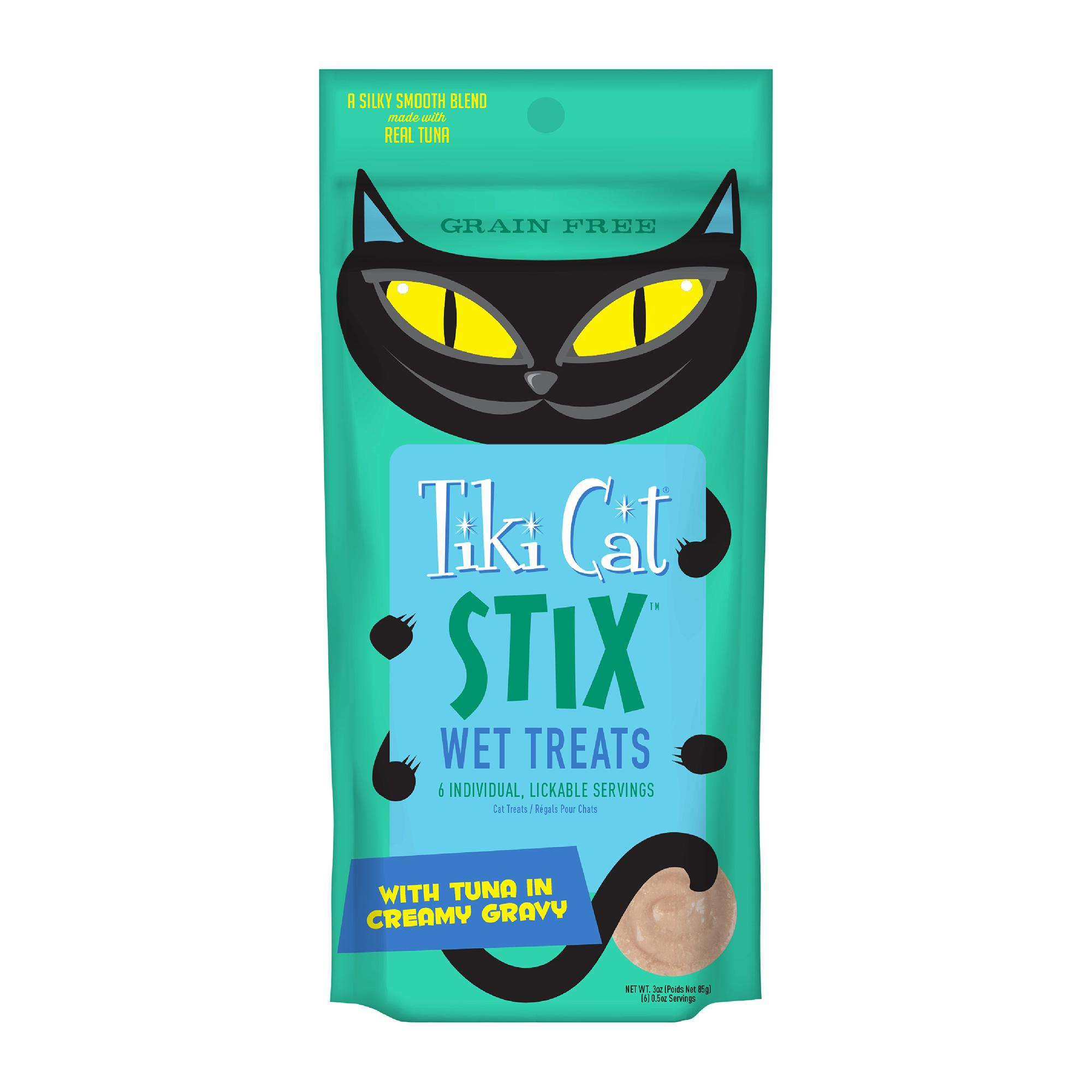 Tiki Cat Stix Tuna Mousse Cat Treat, 6-pack