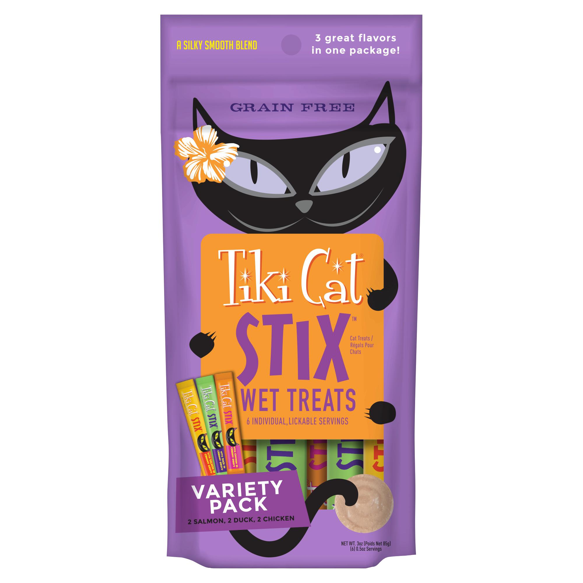 Tiki Cat Stix Variety Pack Mousse Cat Treat, 6-pack Size: 6-pack