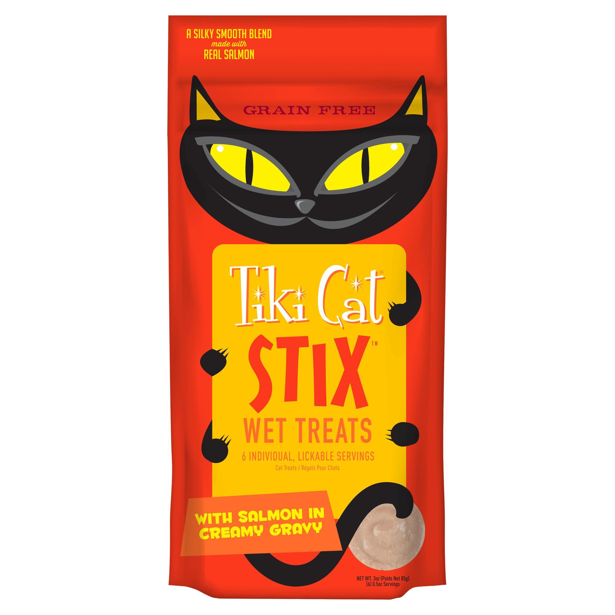 Tiki Cat Stix Salmon Mousse Cat Treat, 6-pack