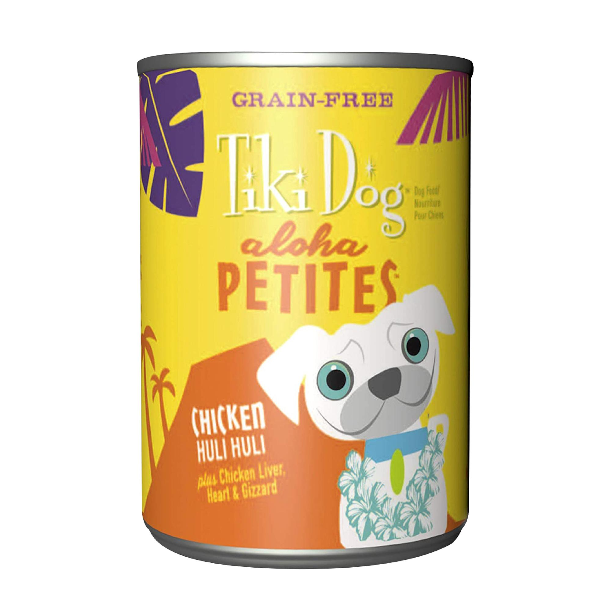 Tiki Dog Aloha Petites Chicken Huli Huli Wet Dog Food, 9-oz can, case of 8