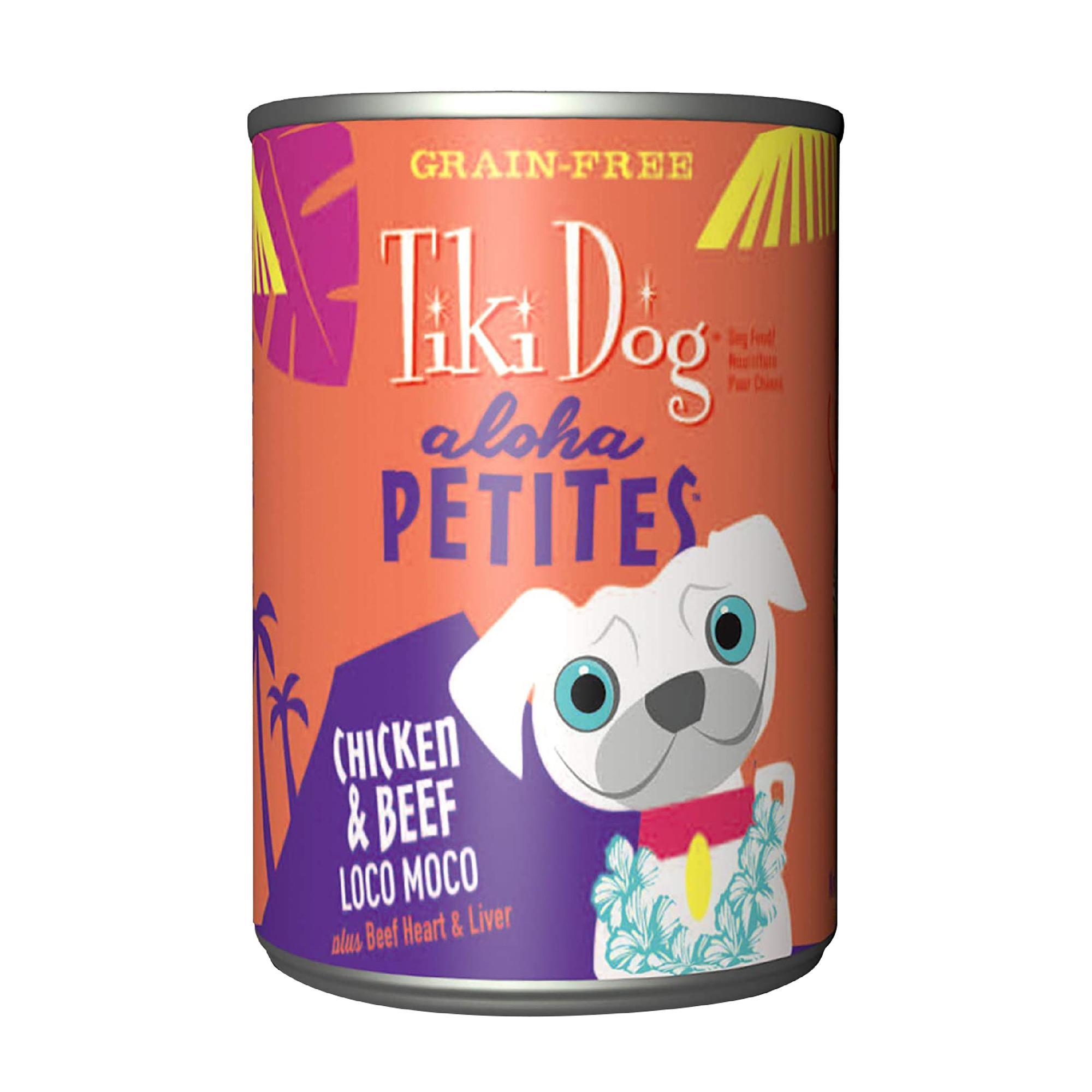 Tiki Dog Aloha Petites Chicken & Beef Loco Moco Wet Dog Food, 9-oz can, case of 8
