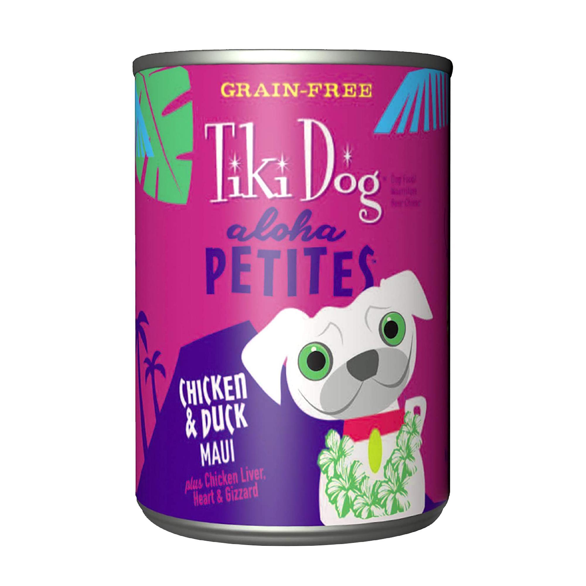 Tiki Dog Aloha Petites Chicken & Duck Maui Wet Dog Food, 9-oz can, case of 8