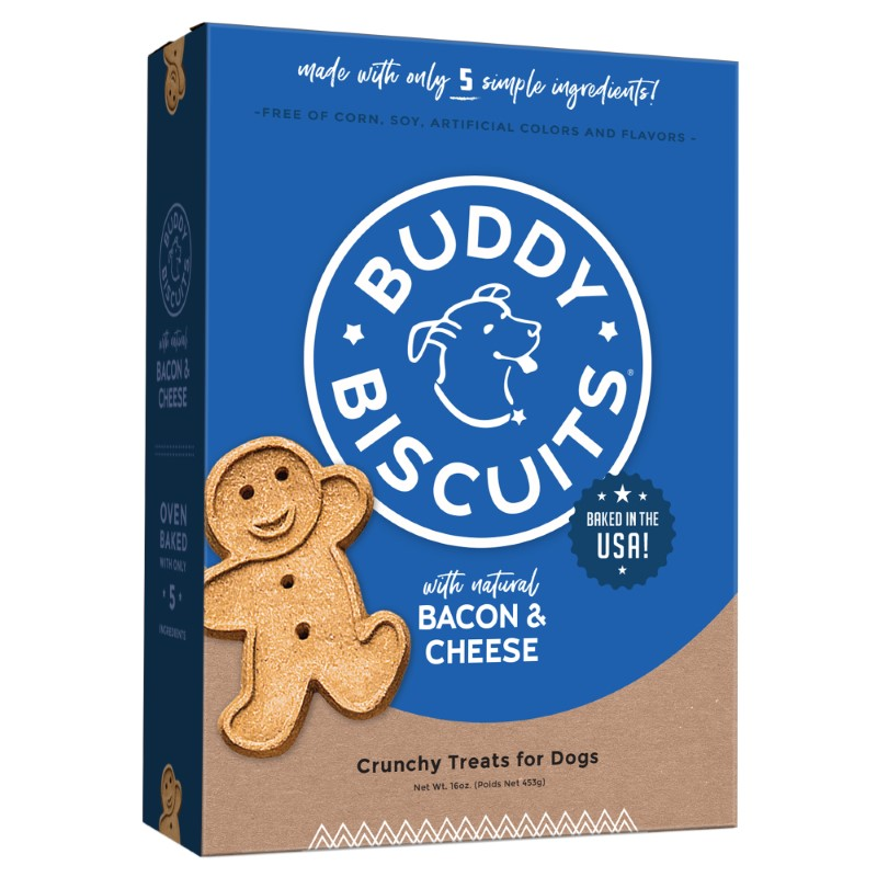 Buddy Biscuits with Bacon & Cheese Oven Baked Dog Treats Image