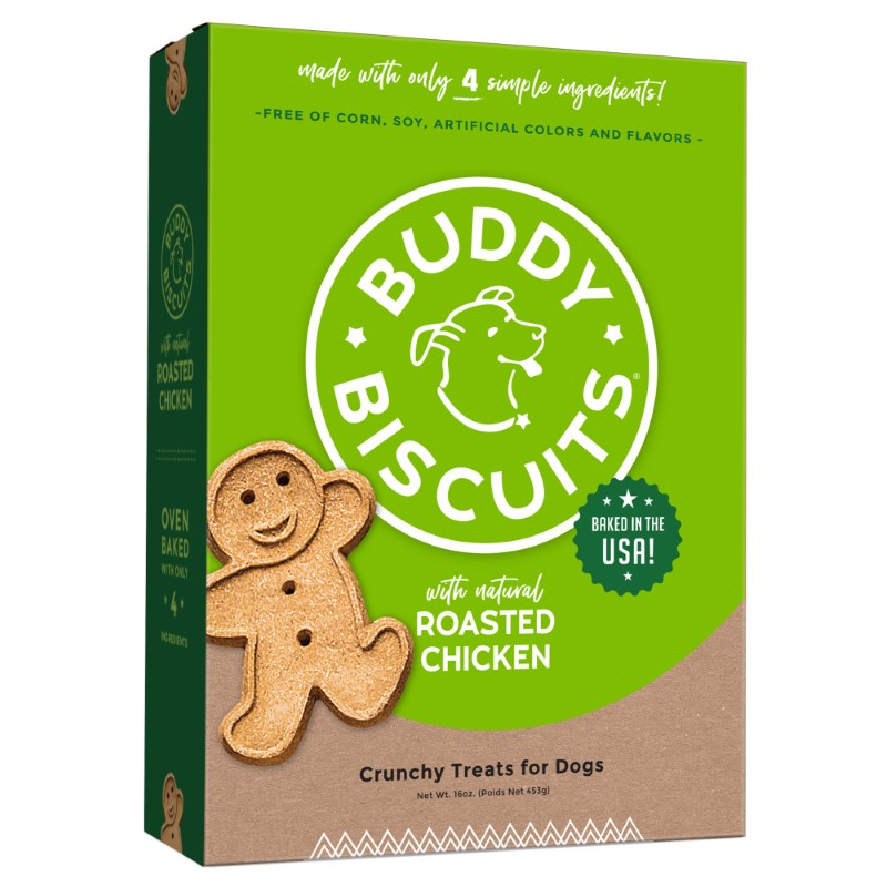 Buddy Biscuits with Roasted Chicken Oven Baked Dog Treats, 16-oz box