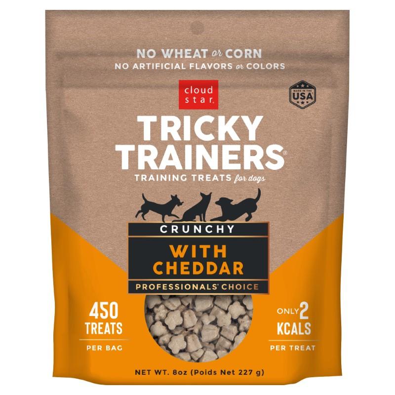Cloud Star Crunchy Tricky Trainers Cheddar Flavor Dog Treats, 8-oz