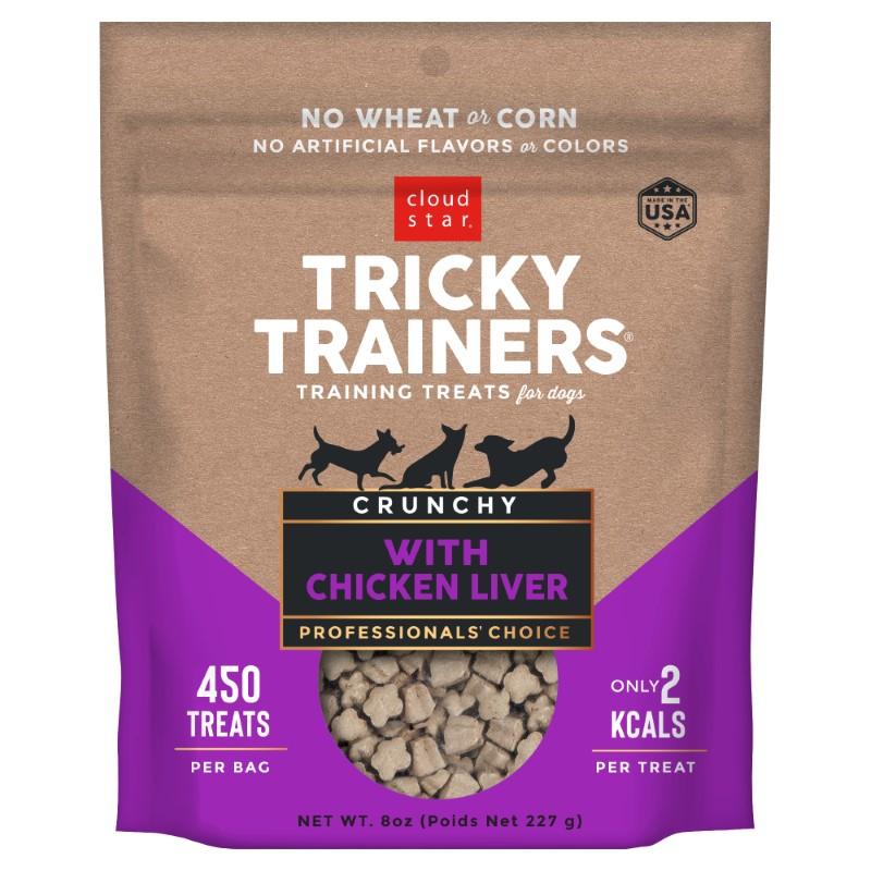 Cloud Star Crunchy Tricky Trainers Liver Flavor Dog Treats, 8-oz