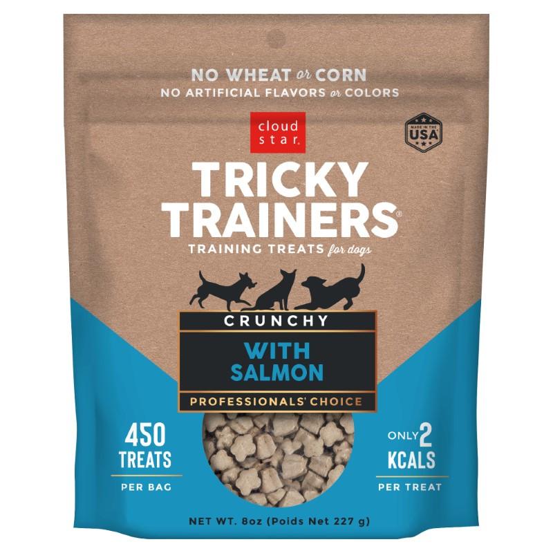 Cloud Star Crunchy Tricky Trainers Salmon Flavor Dog Treats, 8-oz