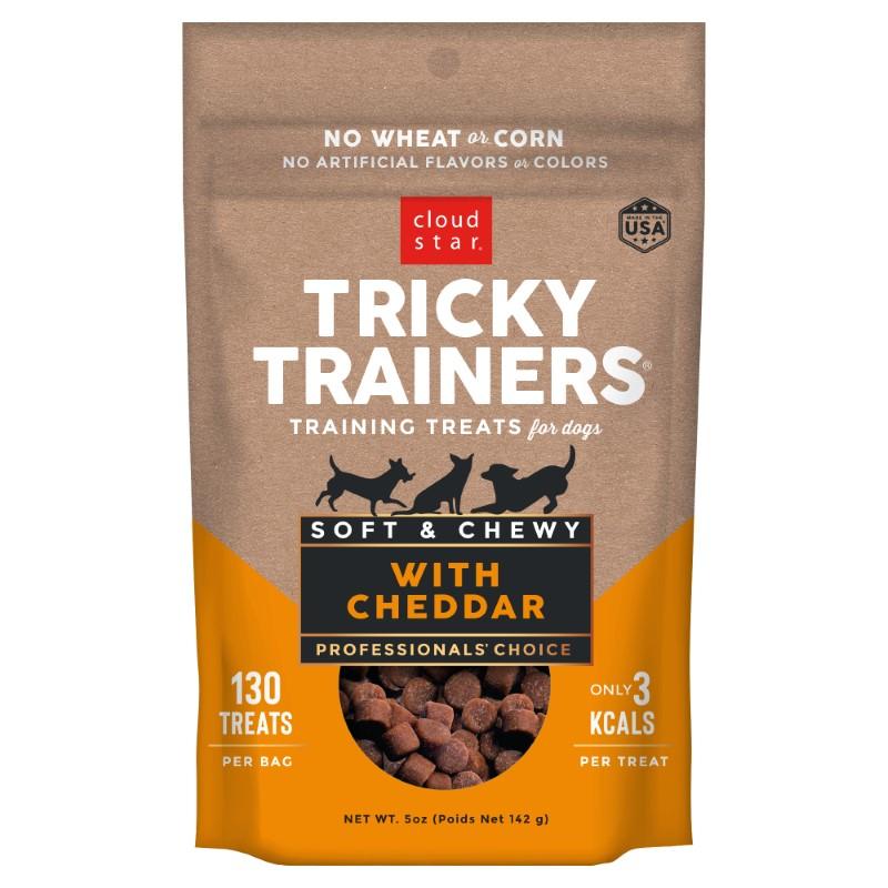 Cloud Star Chewy Tricky Trainers Cheddar Flavor Dog Treats, 5-oz