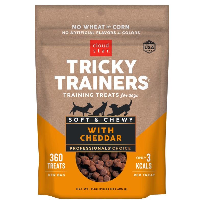 Cloud Star Chewy Tricky Trainers Cheddar Flavor Dog Treats, 14-oz