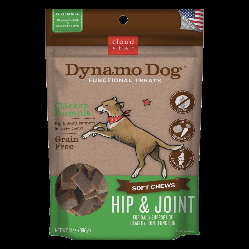 Cloud Star Dynamo Dog Hip & Joint Soft Chews Chicken Formula Dog Treats, 14-oz