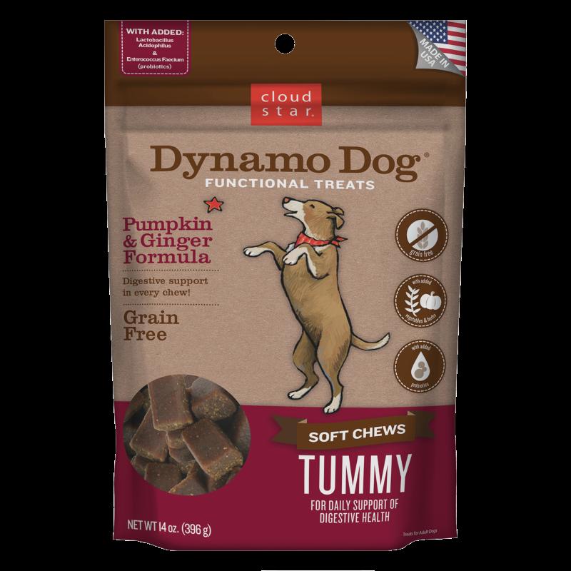 Cloud Star Dynamo Dog Tummy Soft Chews Pumpkin & Ginger Formula Dog Treats, 14-oz