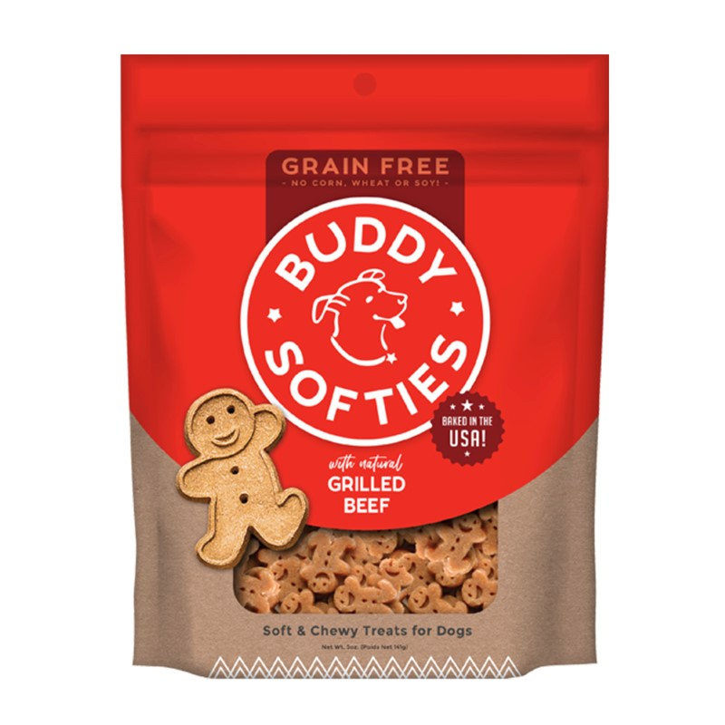 Buddy Biscuits Grain-Free Soft & Chewy with Slow Roasted Beef Dog Treats, 5-oz bag (Size: 5-oz bag) Image