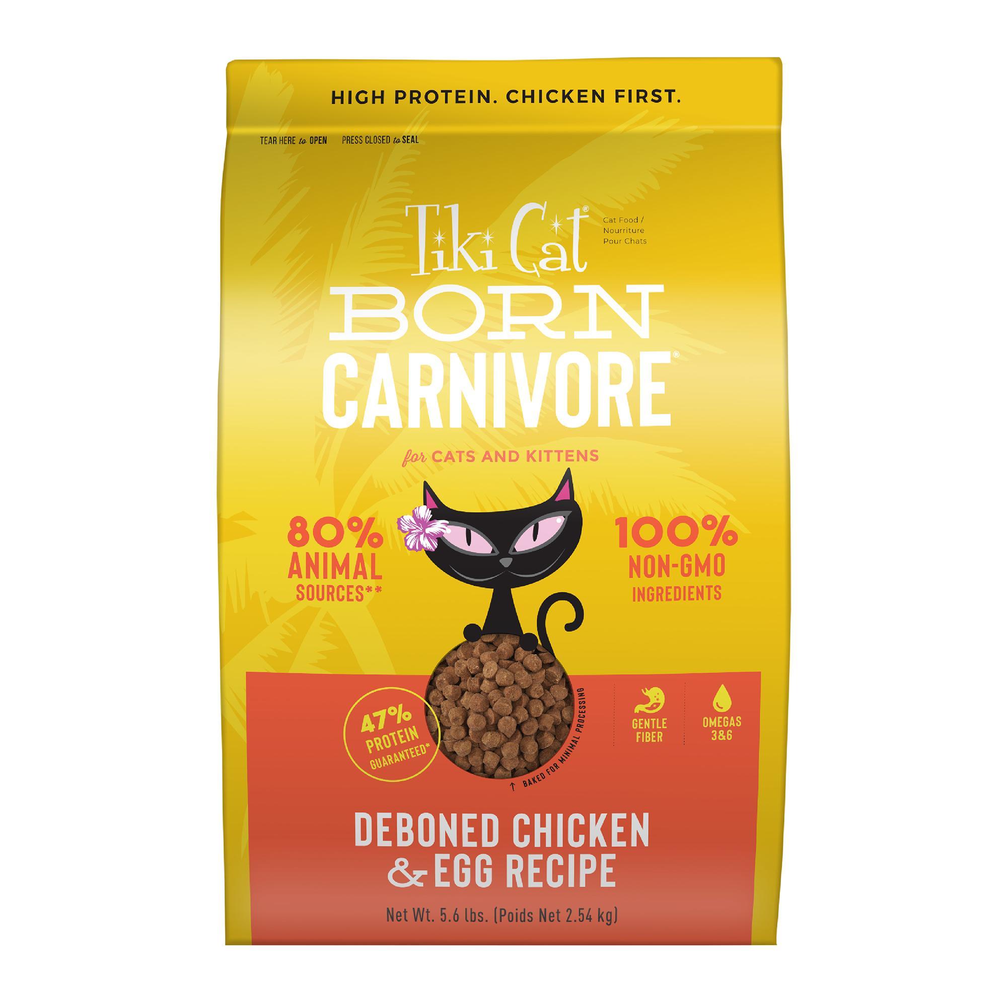 Tiki Cat Born Carnivore Deboned Chicken & Egg Dry Cat Food, 5.6-lb bag