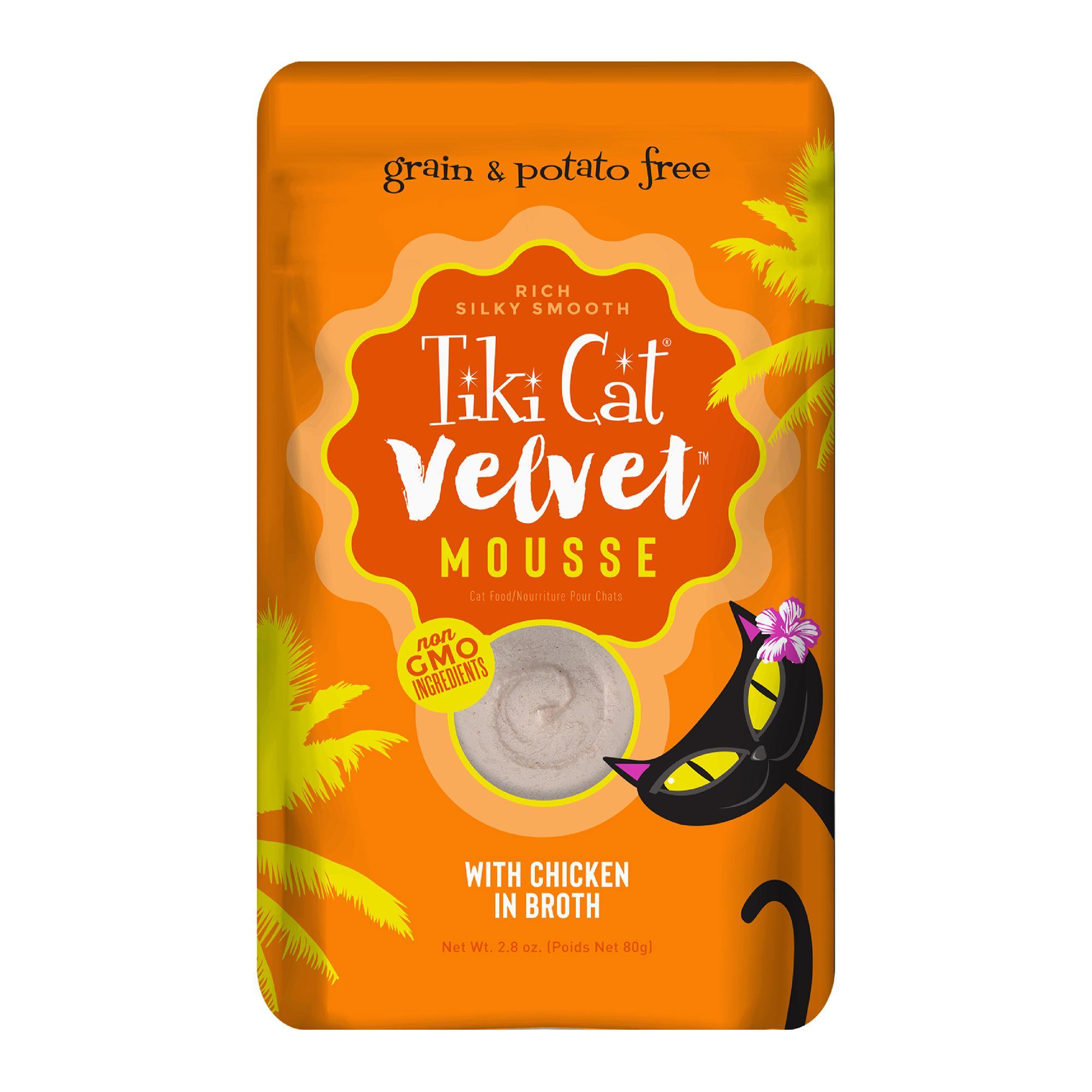 TIKI Cat Velvet Mousse Chicken Wet Cat Food Pouch, 2.8-oz