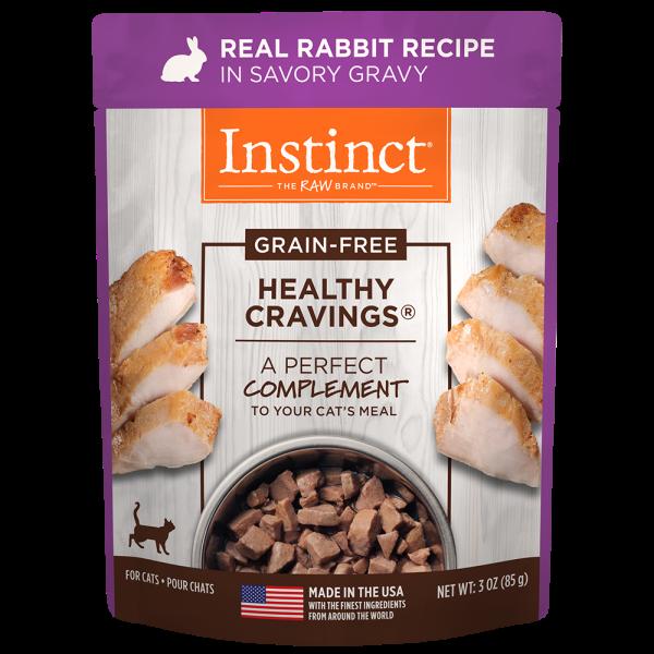 Instinct Healthy Cravings Grain-Free Real Rabbit Recipe Wet Cat Food Topper, 3-oz (Size: 3-oz pouch) Image