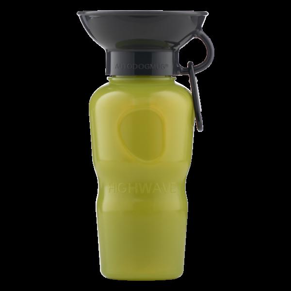 Highwave AutoDOGMug Leak-Tight Portable Dog Water Bottle & Bowl, Kelp Green