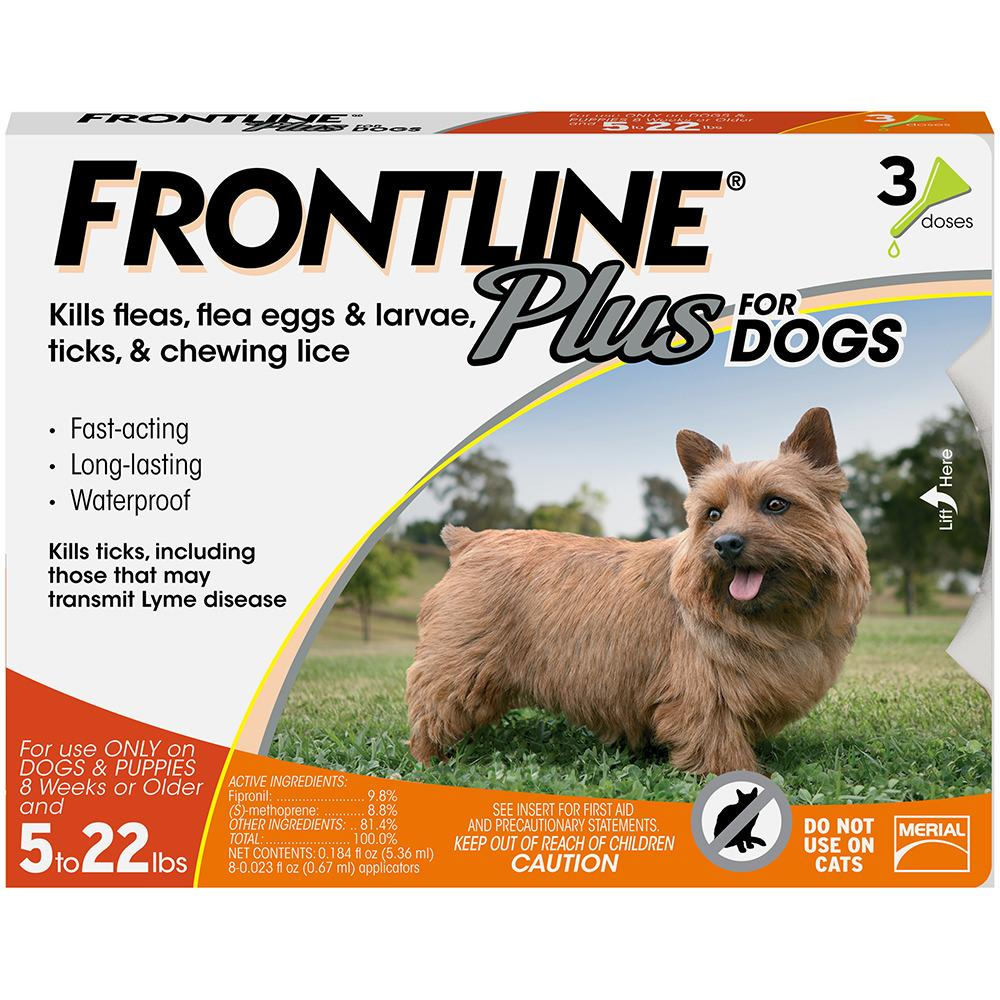 FRONTLINE Plus Flea & Tick Treatment for Small Dogs & Puppies (up to 22 pounds)
