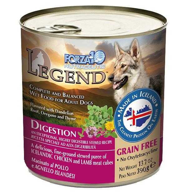 Forza10 Legend Digestion Chicken & Lamb Meat Cubes Recipe Grain-Free Wet Dog Food, 13.7-oz