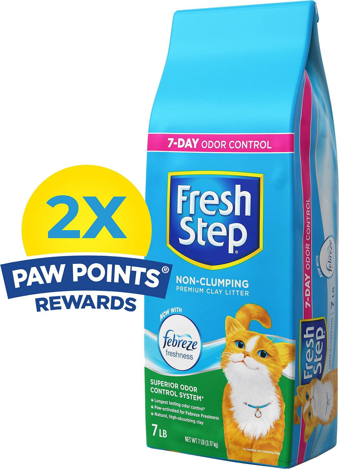 Fresh Step Scented Non-Clumping Clay Cat Litter with Febreeze Image