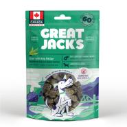 Great Jack's Big Bitz Pork Liver & Kelp Grain-Free Dog Treats, 198-gram