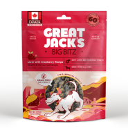 Great Jack's Big Bitz Pork Liver & Cranberry Grain-Free Dog Treats, 396-gram