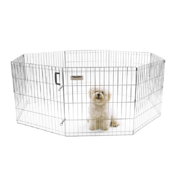 Precision Pet Silver ExPen with Snaps Pet Exercise Pen, 24-in