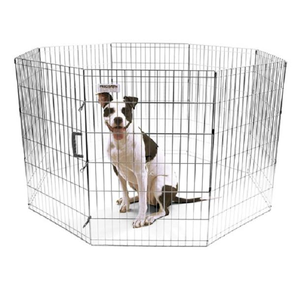 Precision Pet Silver ExPen with Snaps Pet Exercise Pen, 36-in