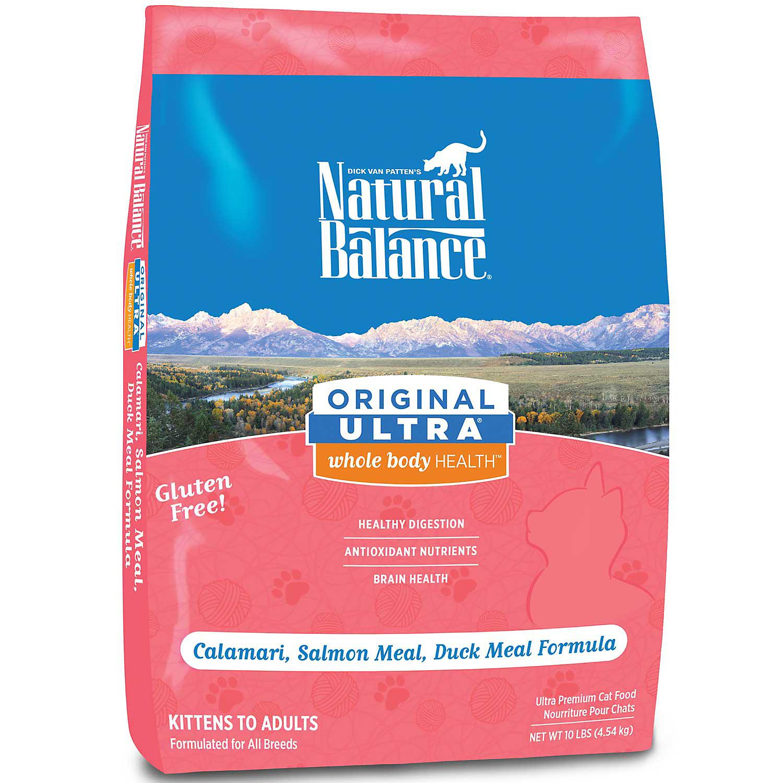 Natural Balance Original Ultra Whole Body Health Calamari, Salmon Meal, Duck Meal Formula Dry Cat Food, 5-lb