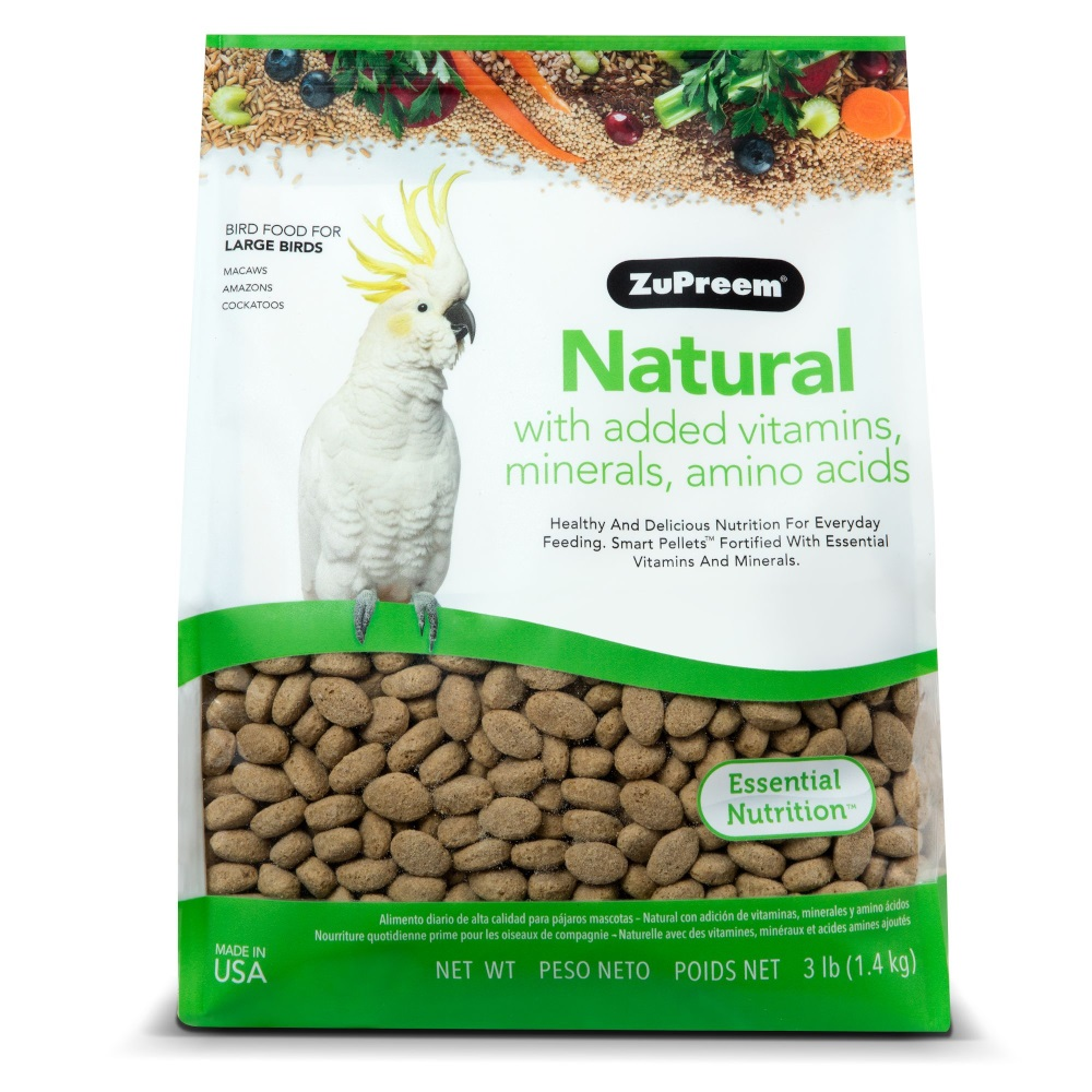 ZuPreem Natural with Vitamins & Minerals Large Bird Food, 3-lb bag Image