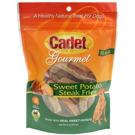 IMS Trading Cadet Gourmet Sweet Potato Steak Fries Dog Treats, 8-oz bag