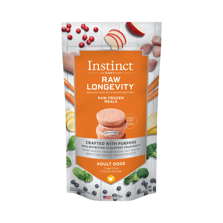 Instinct by Nature's Variety Raw Longevity Lamb Patties Frozen Dog Food, 6-lb