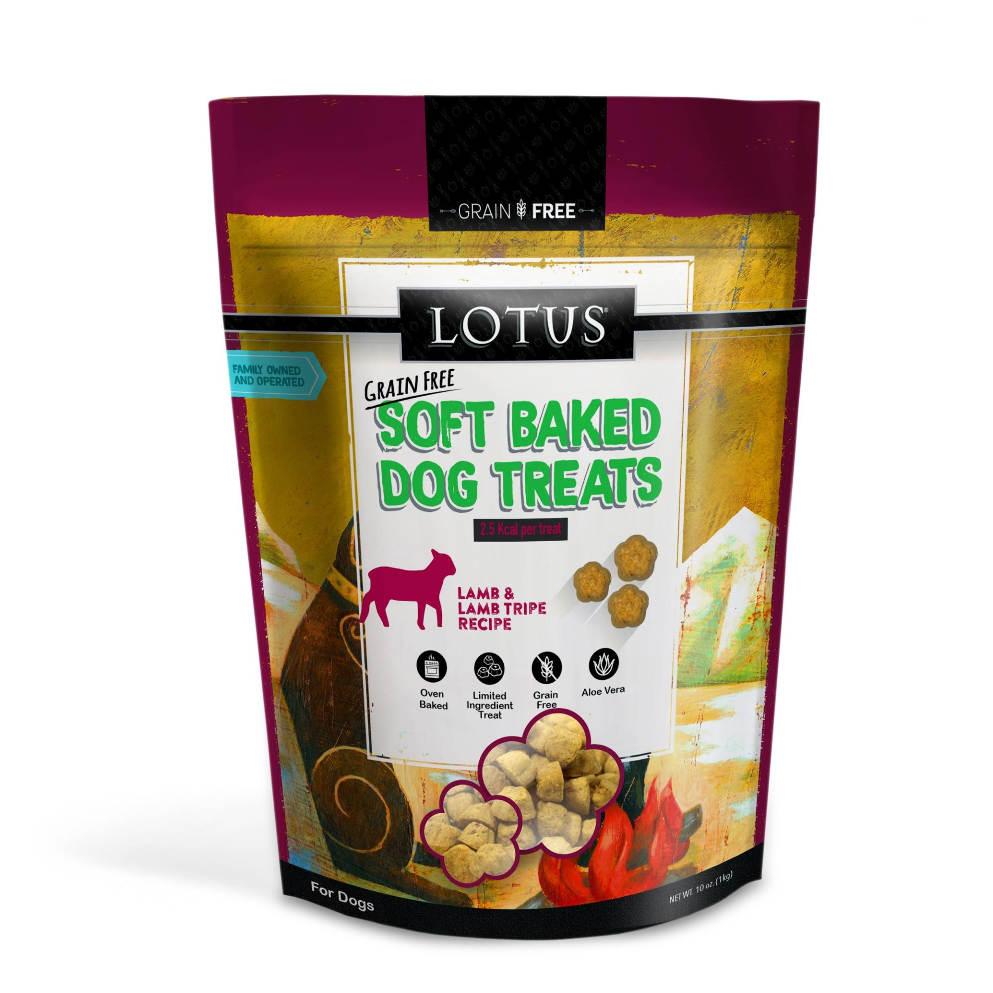 Lotus Soft Baked Lamb Dog Treat, 10-oz