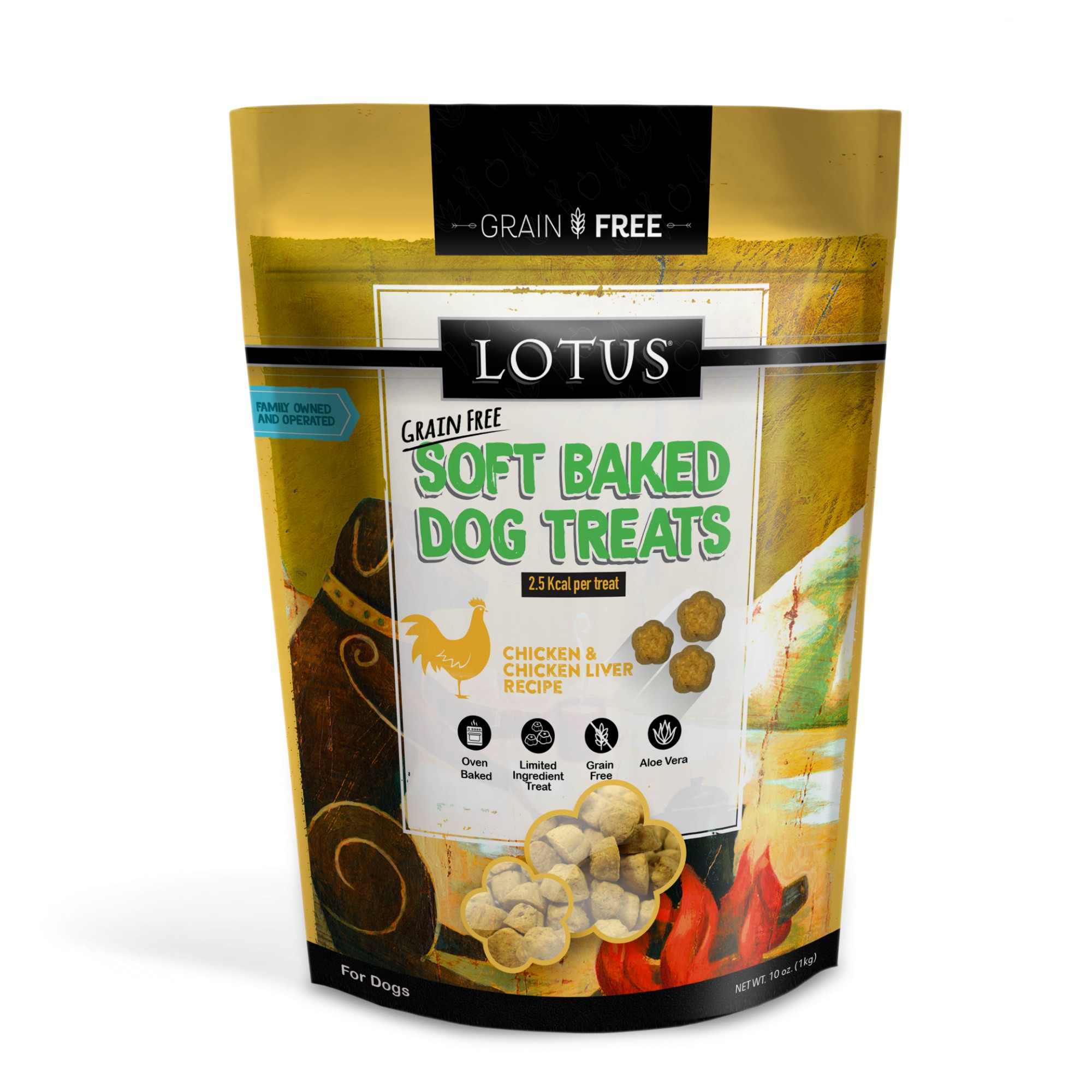 Lotus Soft Baked Chicken Dog Treat, 10-oz
