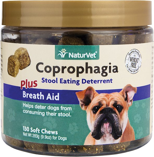 NaturVet Coprophagia Stool Eating Deterrent Soft Chews for Dogs, 130 Count