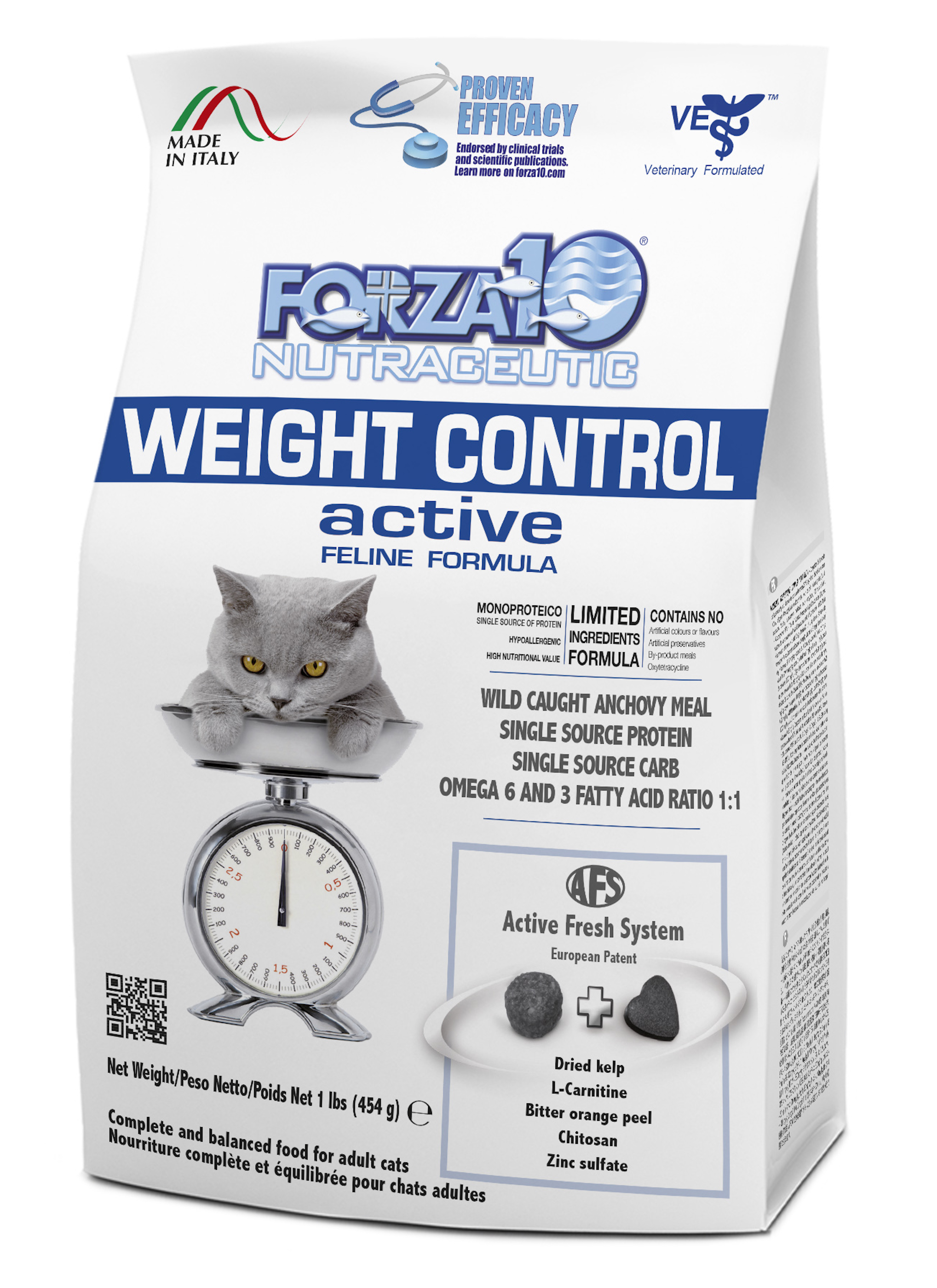Forza10 Active Line Weight Control Active Adult Dry Cat Food, 4-lb