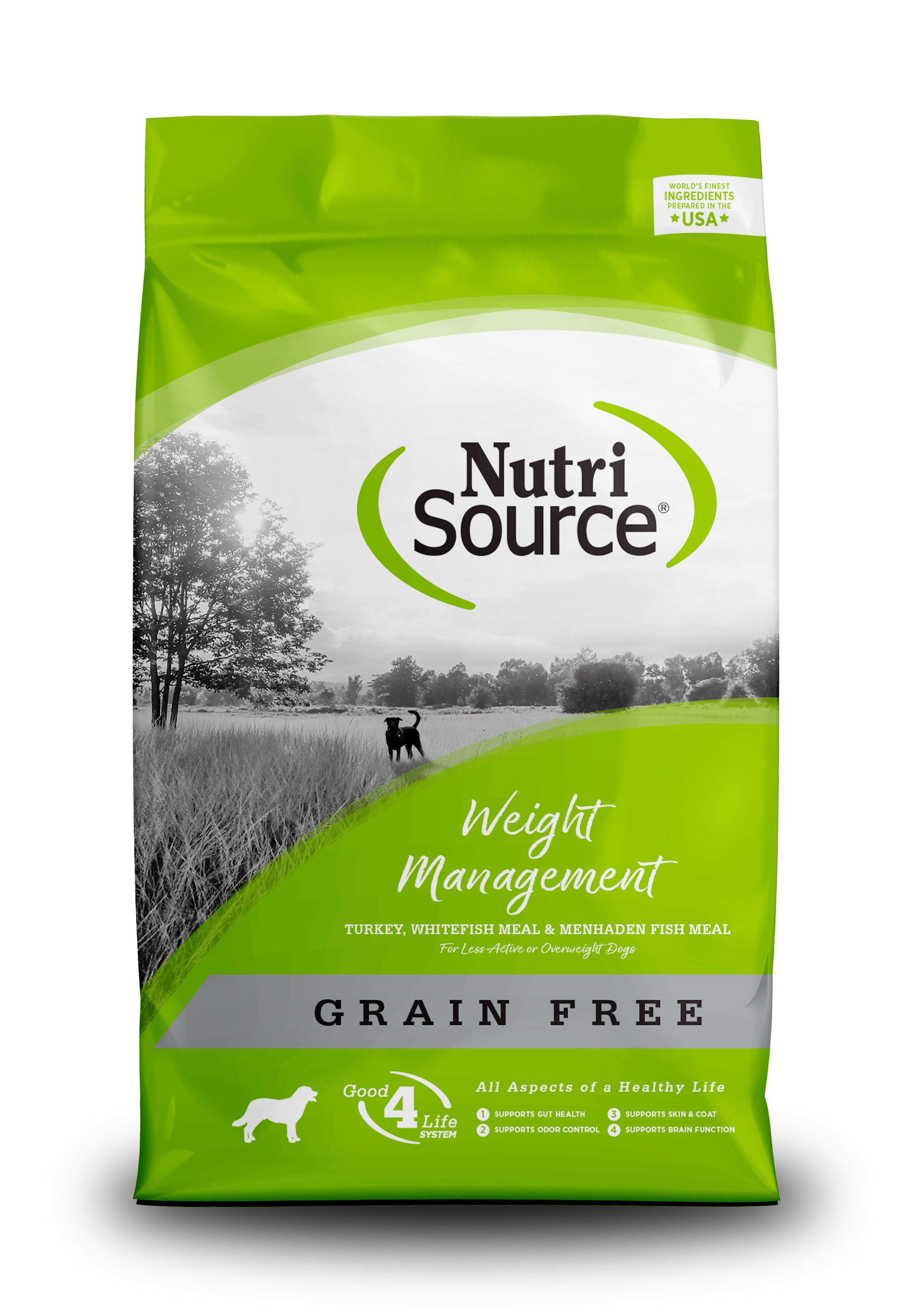 NutriSource Grain Free Weight Management Dry Dog Food, 5-lb