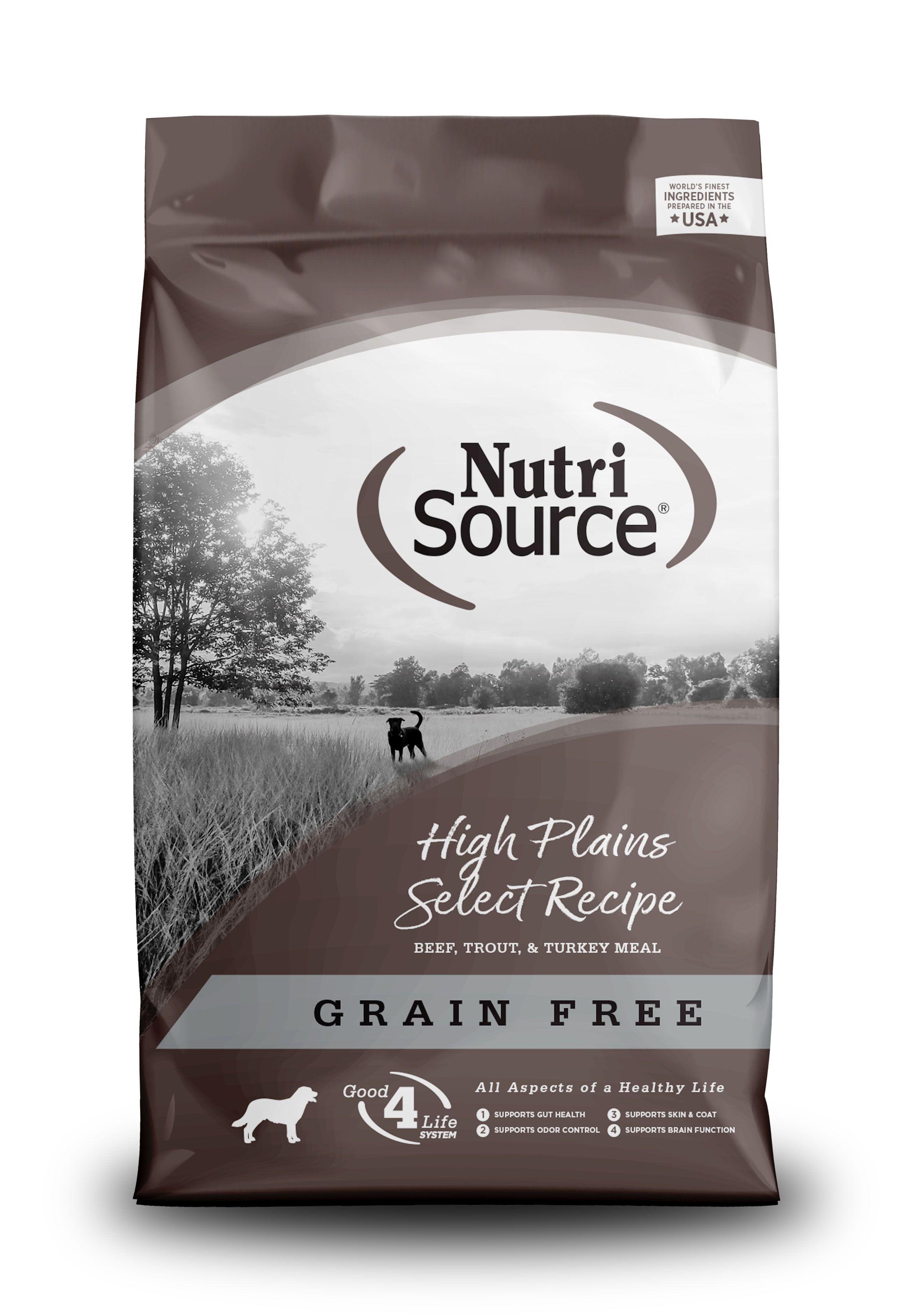 NutriSource Grain Free High Plains Dry Dog Food, 30-lb