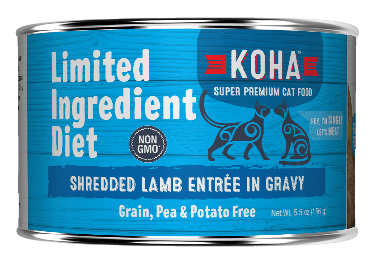 Koha Cat Limited Ingredient Shredded Lamb Entree in Gravy Wet Cat Food, 5.5-oz can