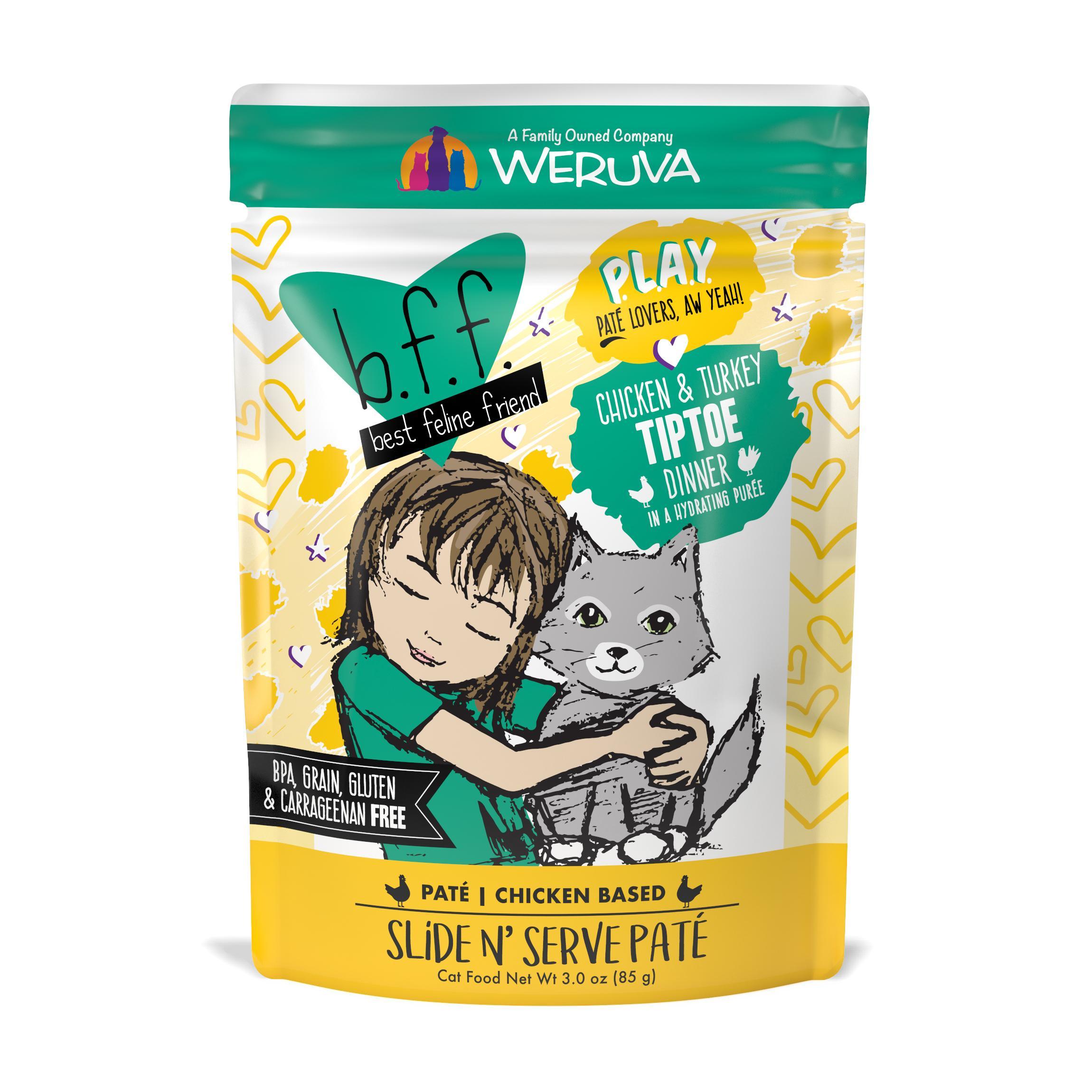 BFF PLAY Pate Tiptoe Chicken & Turkey Dinner in Puree Grain-Free Wet Cat Food Image