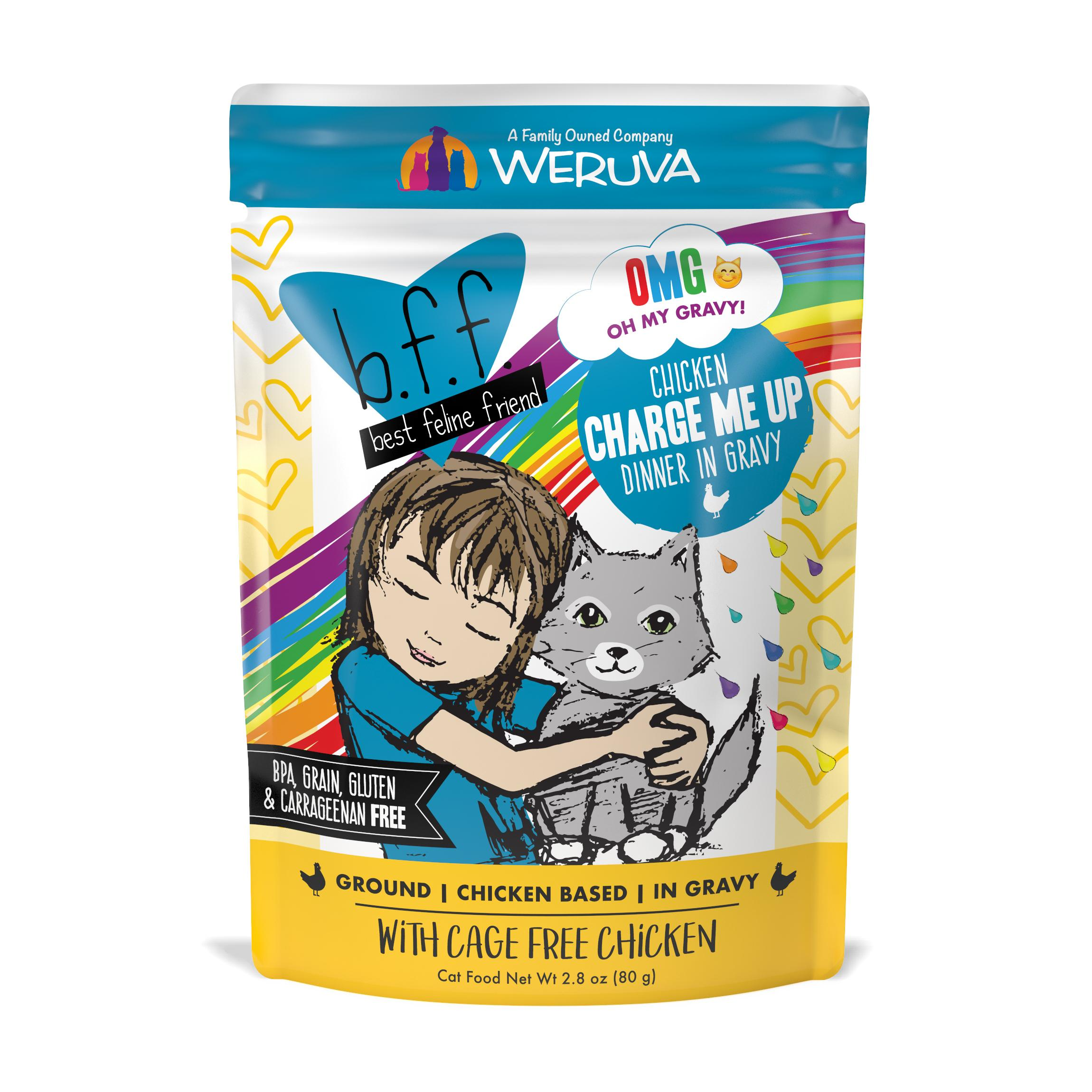 BFF Oh My Gravy! Charge Me Up! Chicken Dinner in Gravy Grain-Free Wet Cat Food, 2.8-oz pouch