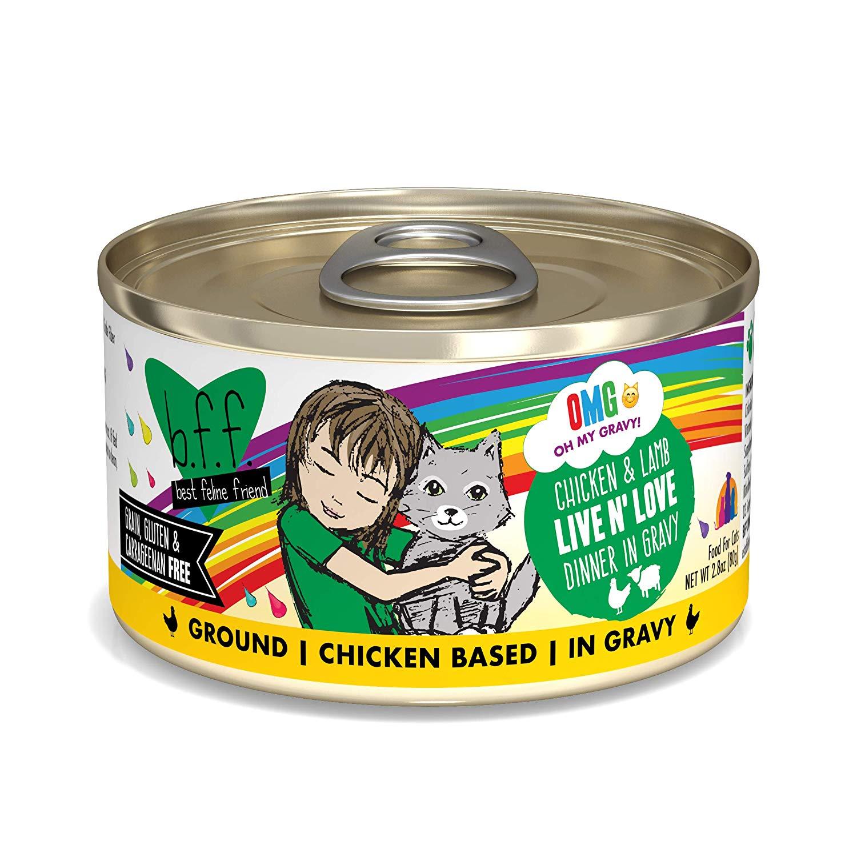 BFF Oh My Gravy! Live N' Love! Chicken & Lamb Dinner in Gravy Grain-Free Wet Cat Food Image