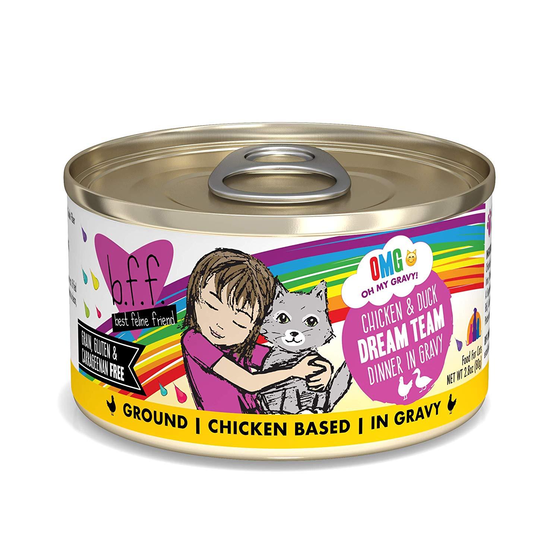 BFF Oh My Gravy! Dream Team! Chicken & Duck Dinner in Gravy Grain-Free Wet Cat Food Image