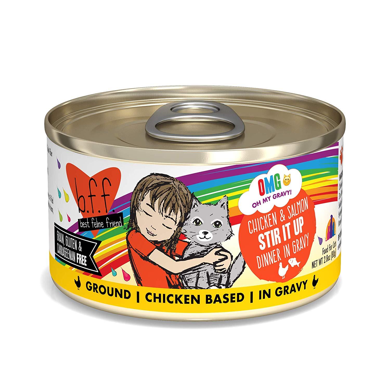 BFF Oh My Gravy! Stir It Up! Chicken & Salmon Dinner in Gravy Grain-Free Wet Cat Food Image