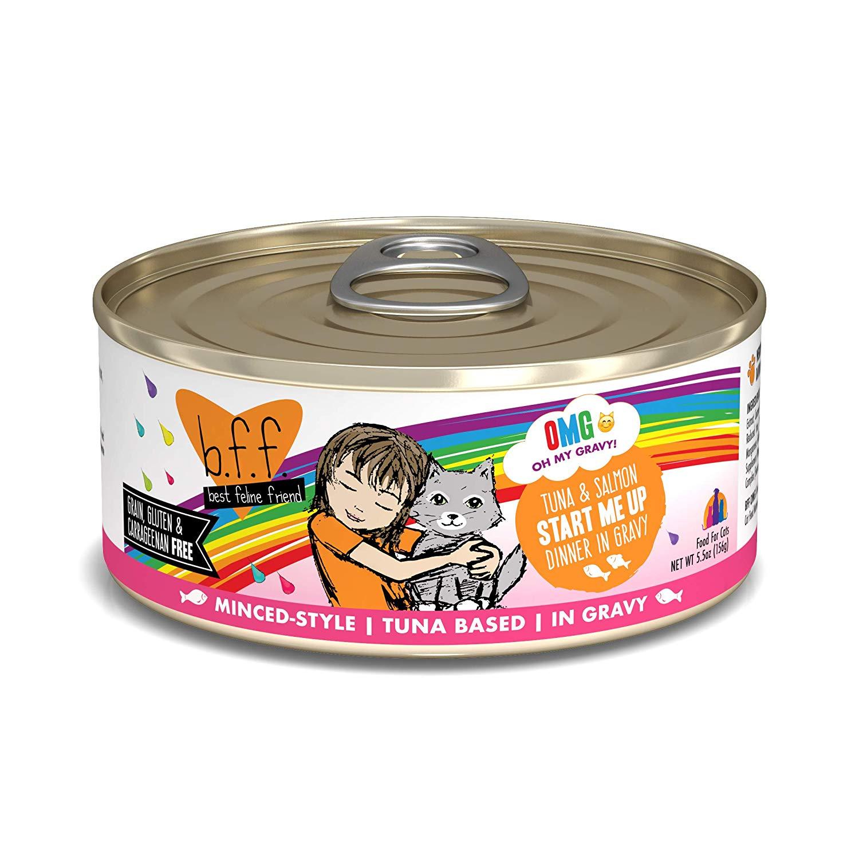 BFF Oh My Gravy! Start Me Up! Tuna & Salmon Dinner in Gravy Grain-Free Wet Cat Food, 5.5-oz
