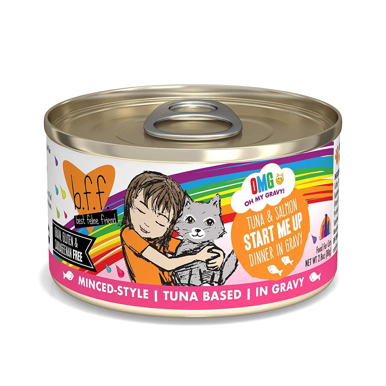 BFF Oh My Gravy! Start Me Up! Tuna & Salmon Dinner in Gravy Grain-Free Wet Cat Food Image